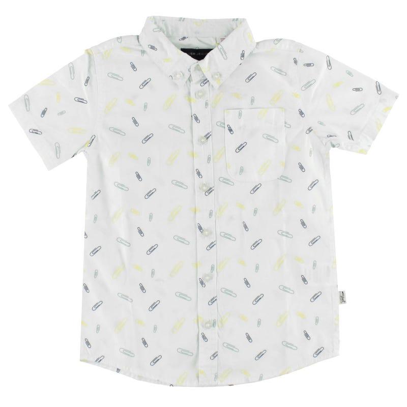 Paper Clips Print Shirt 4-7