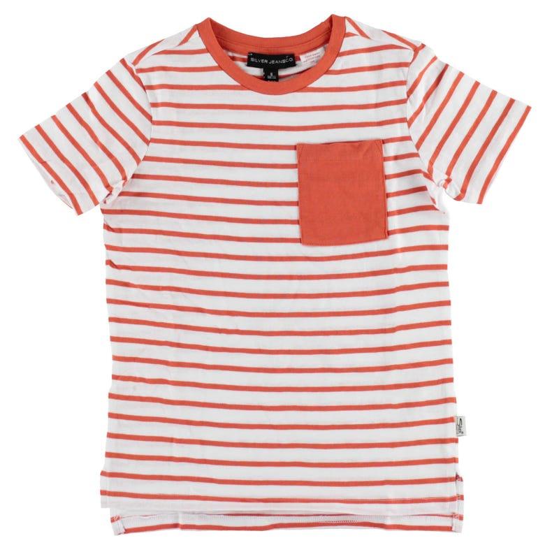 T-shirt Rayé Poche 4-7ans