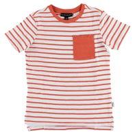 T-shirt Rayé Poche 4-7y