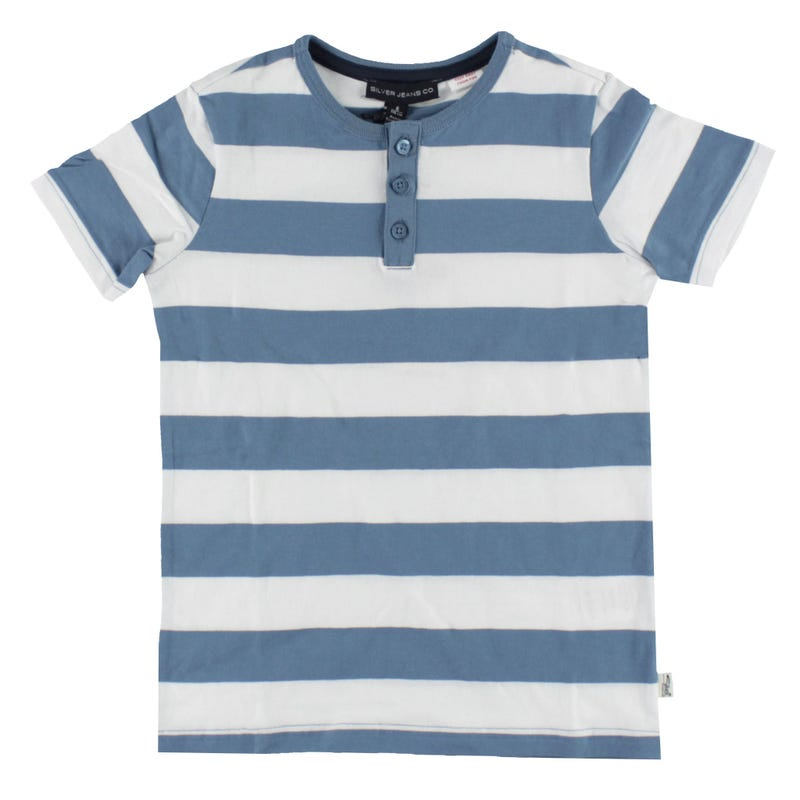 Striped Henley T-shirt 4-7