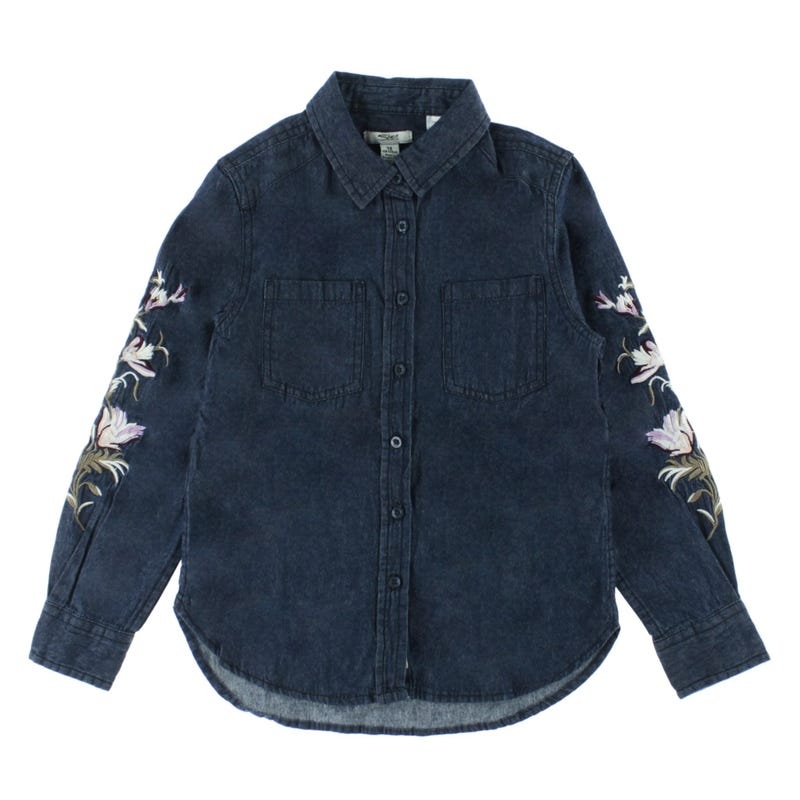Denim Long Sleeve Shirt 7-16y