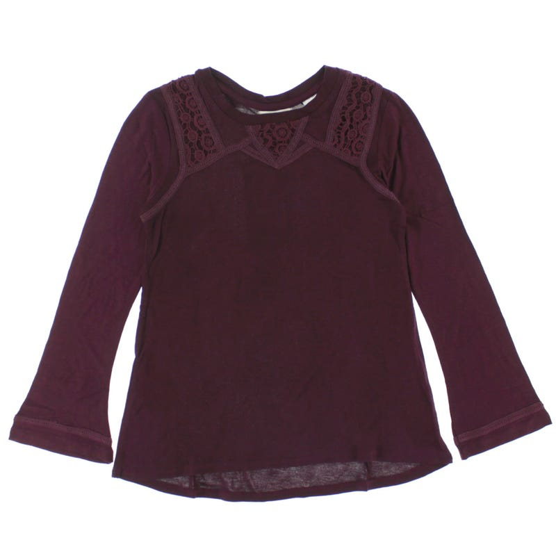 Lace Long Sleeve T-Shirt 7-16y