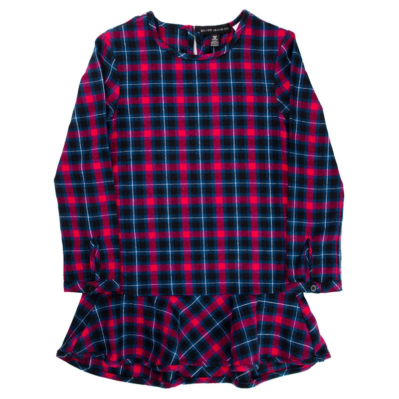 Plaid L/S Tunic 7-16