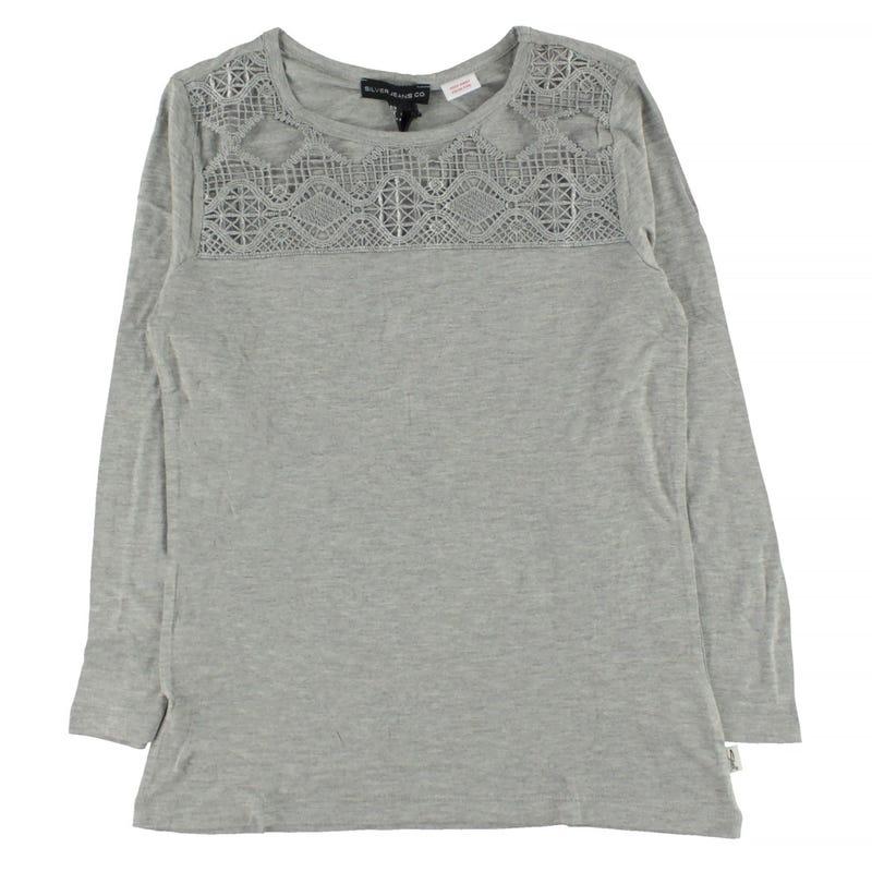 Lace L/S T-Shirt 7-16