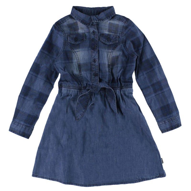 Plaid L/S Dress 7-16