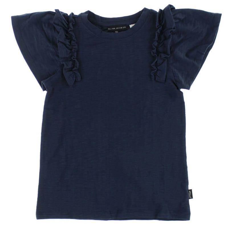 T-Shirt Manche Volant 7-16