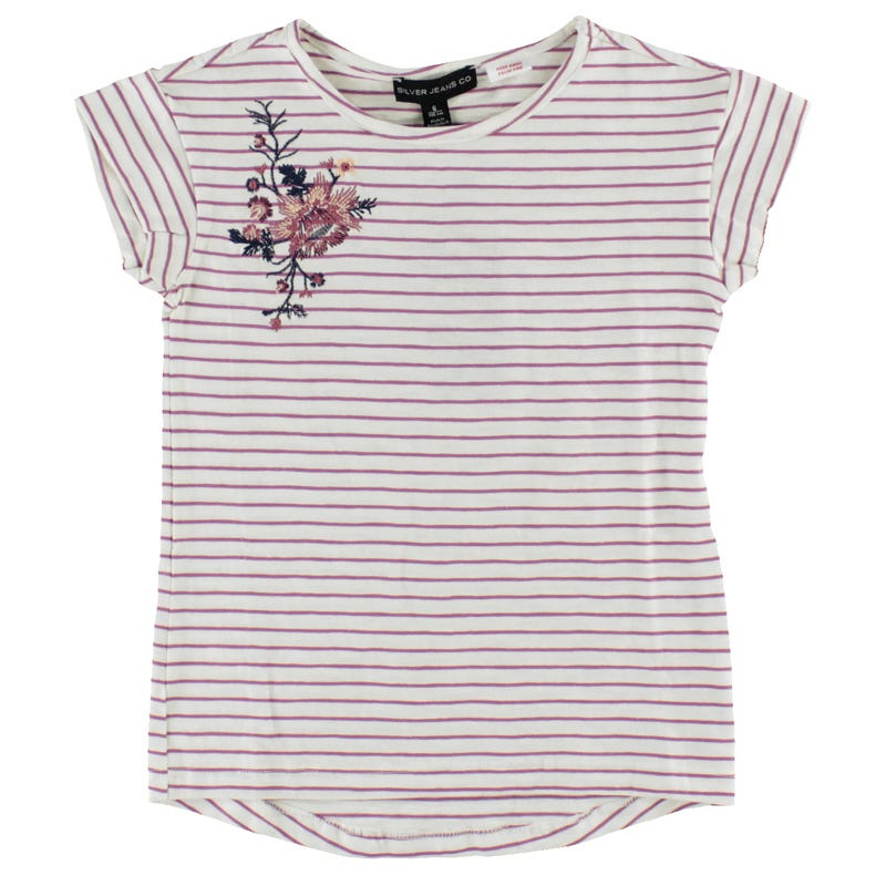 Striped Embroidered Tshirt7-16