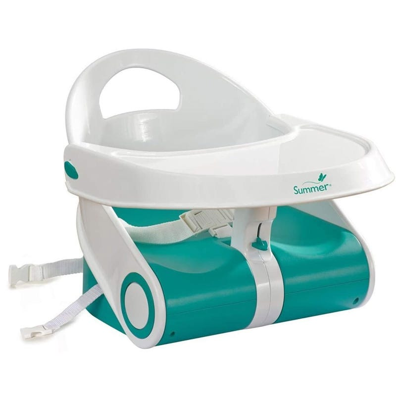 Sit 'n Style Booster Seat - White/Teal