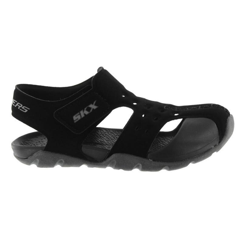 Side Wave Black Sandal Sizes 11-4