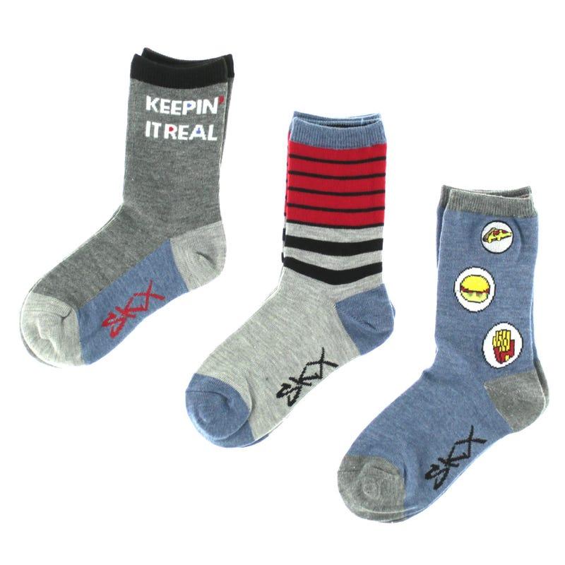 3 Pack Snack Socks 2-16y