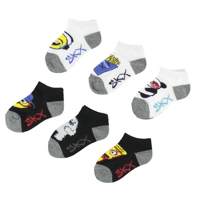 6 Pack Emoji Socks 2-16y