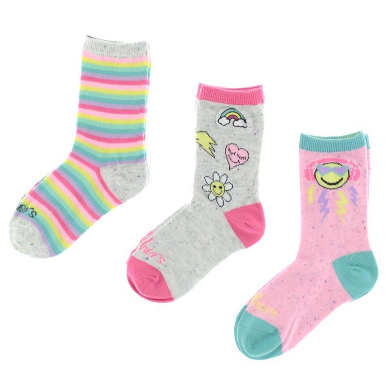3 Pack Rainbow Socks 2-16y