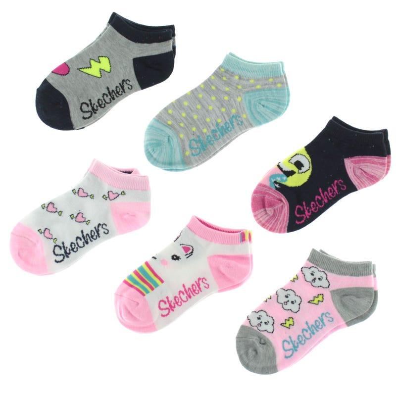 6 PAck Smiley Socks 2-16y