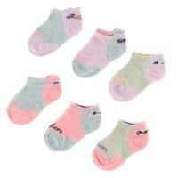 6 Pack Dogs Girl Socks 2-12y
