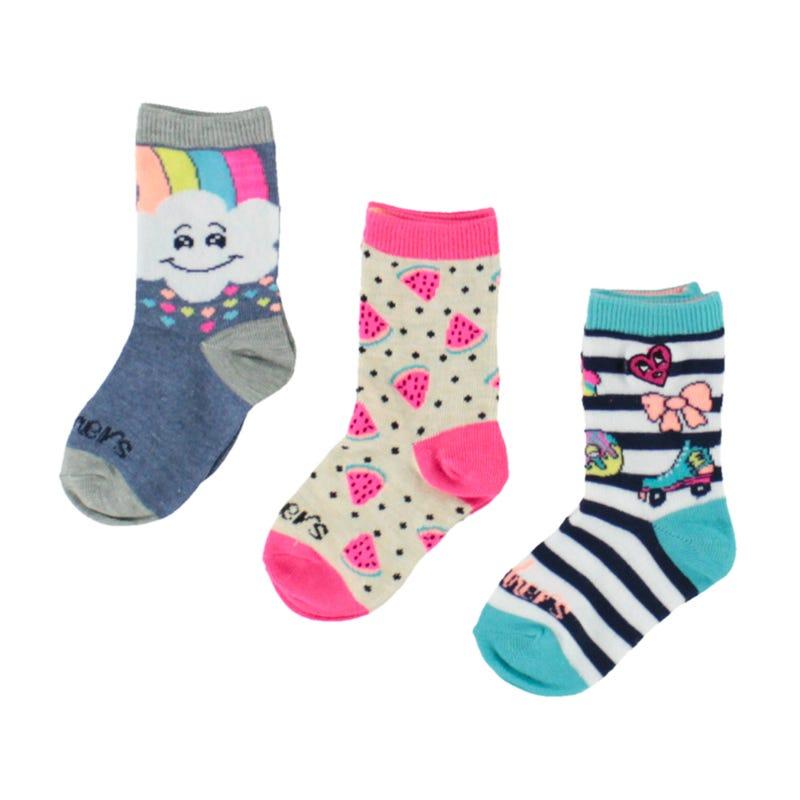3 Pack Emoji Girl Socks 2-16y
