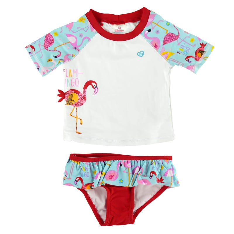 Flamingo Rashguard Swimsuit