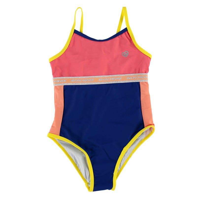 Color Bloc Swimsuit 4-6X
