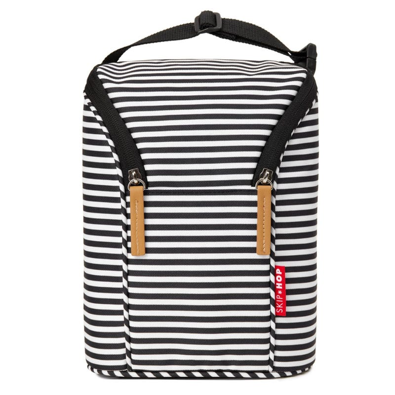 Grab And Go Double Bottle Bag - White/Black