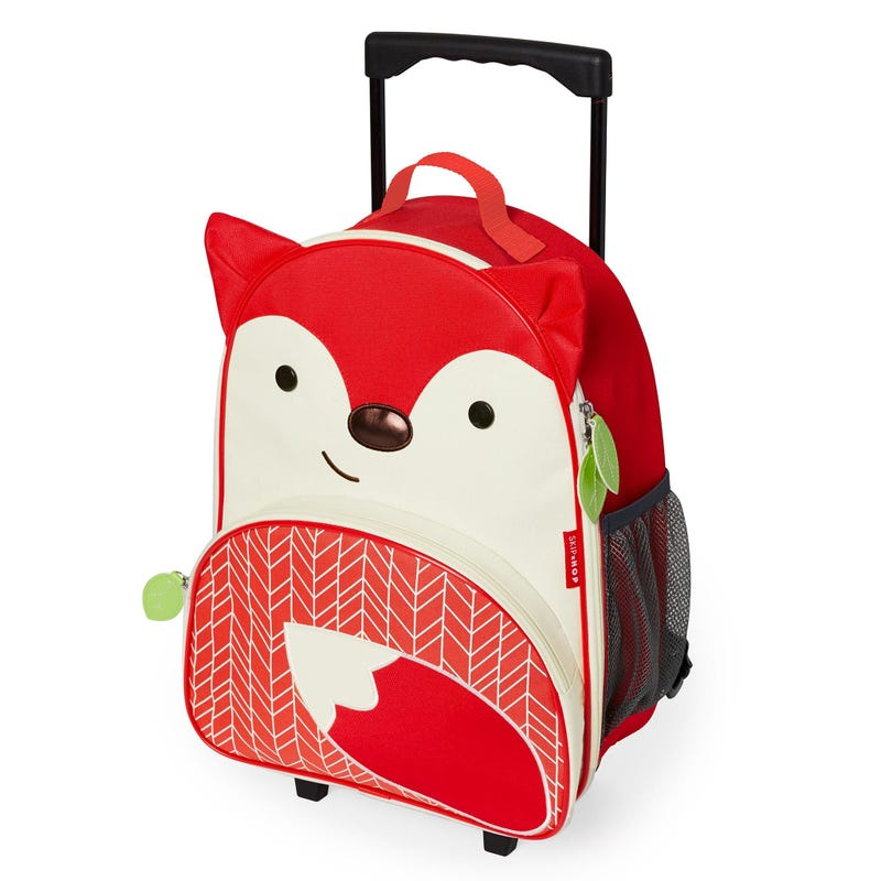 Zoo Kids Rolling Luggage - Fox