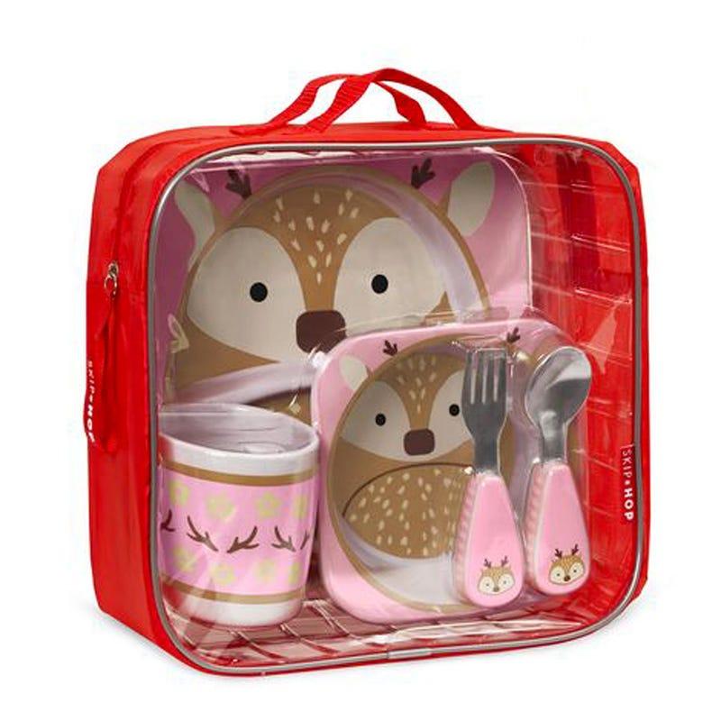 Zoo Mealtime 5 Piece Gift Set - Deer
