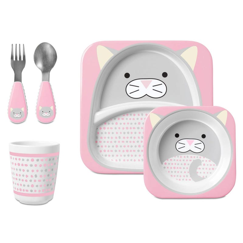 ZOO Mealtime 5 Pieces Cat Pink