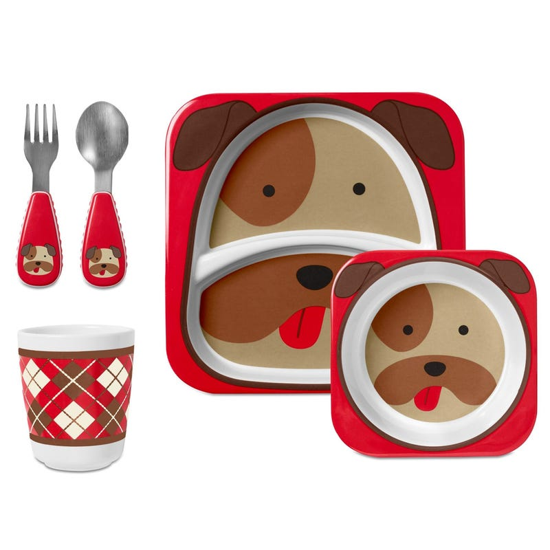 Skip Hop ZOO Mealtime 5 Pieces - Dog