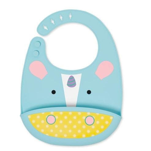 Zoo Fold and Go Silicone Bib - Unicorn