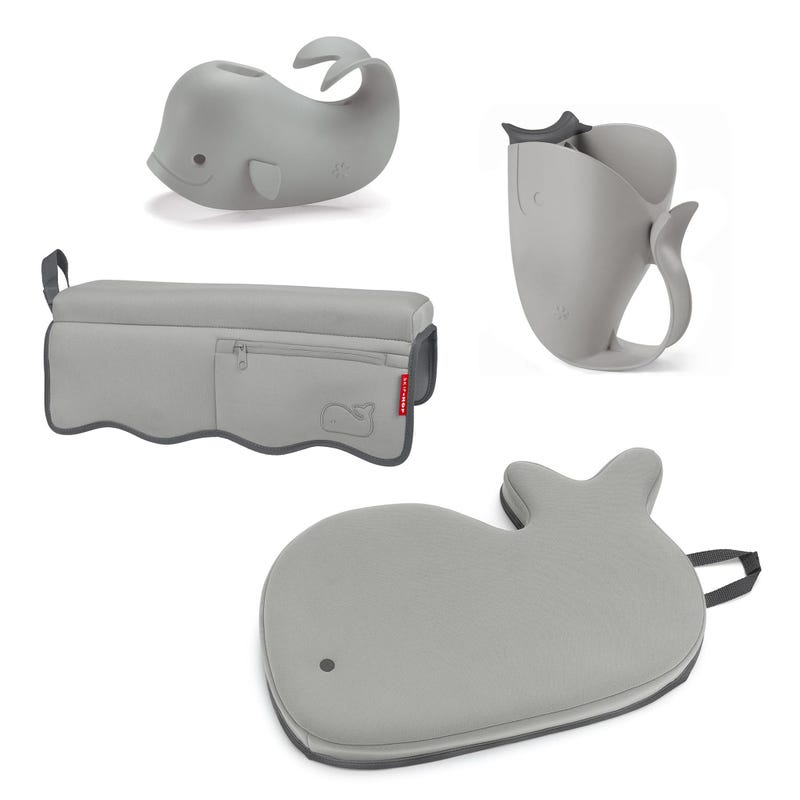 4 Piece Moby Bathtime Essentials kit - Gray