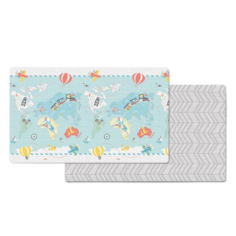 Doubleplay Reversible Play Mat - Little Travelers