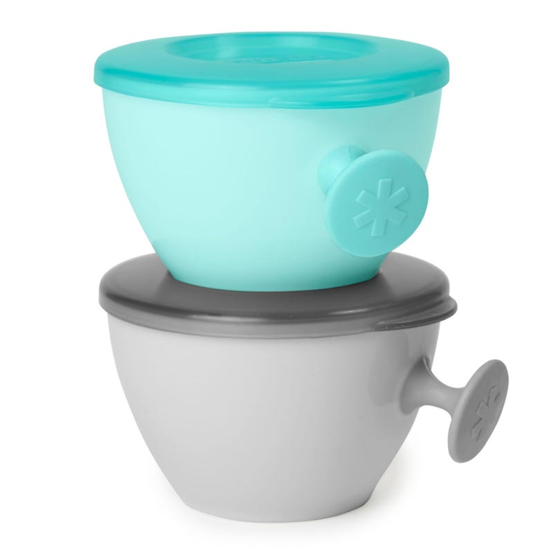 Easy Grip Bowl Set of 2 -  Grey/Teal