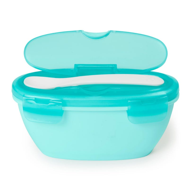 Easy-Serve Travel Bowl And Spoon - Teal