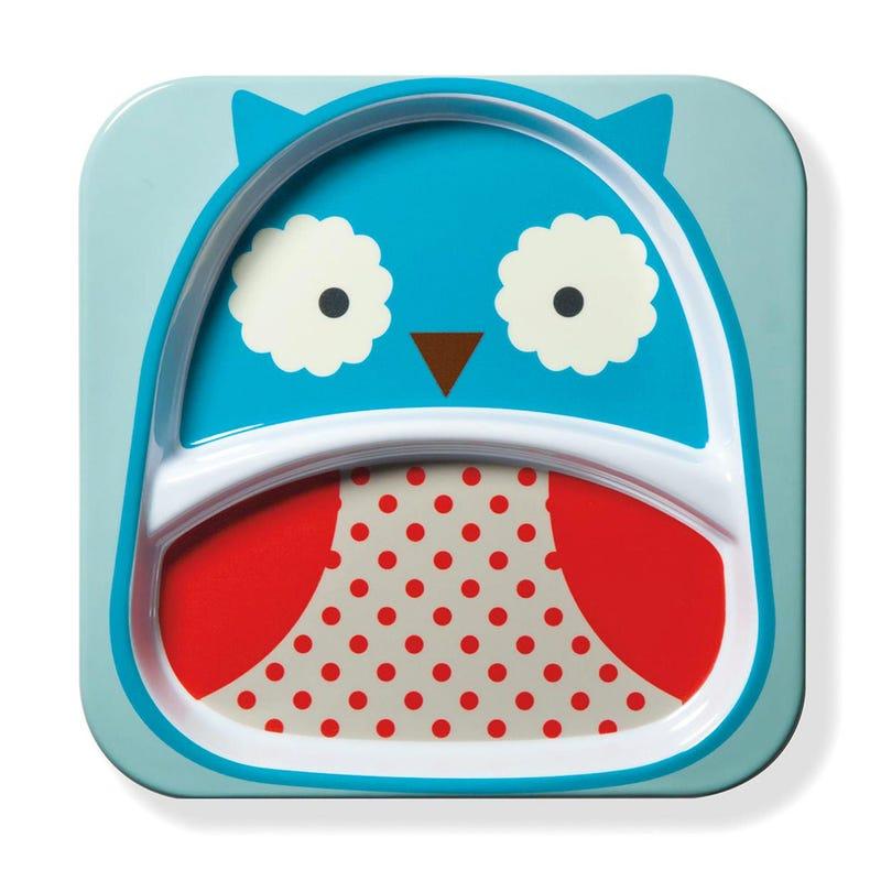 Zoo Little Kid Plate - Owl