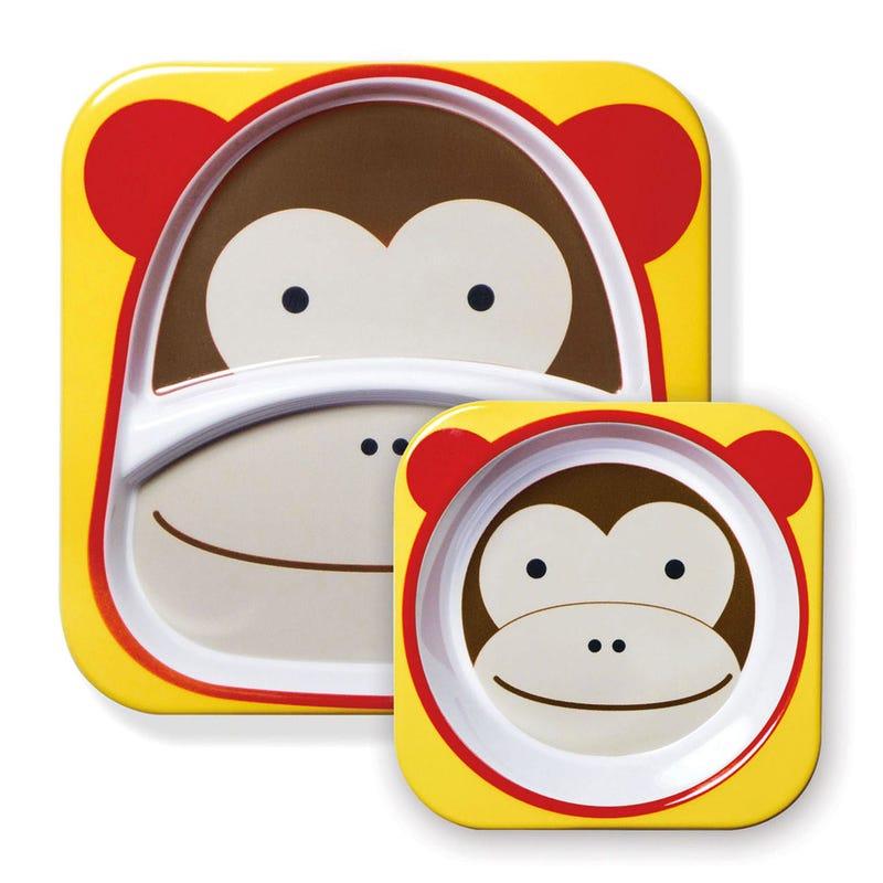 Zoo Plate And Bowl Set * - Monkey