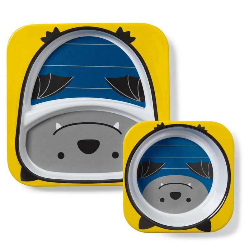 Zoo Melamine Plate And Bowl Set - Bat