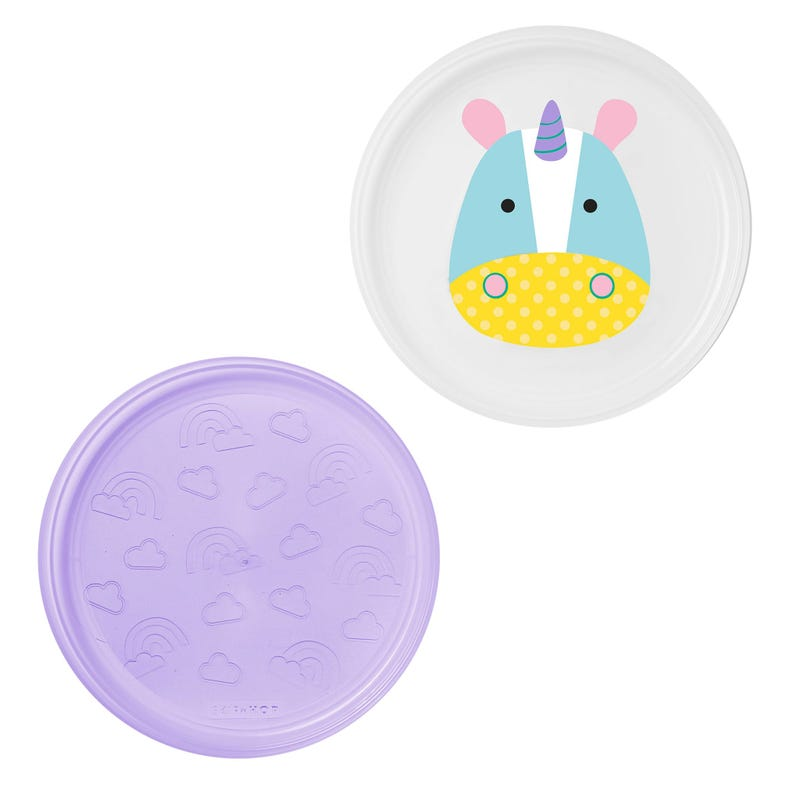 Zoo Little Kid Plate Set of 2 - Unicorn
