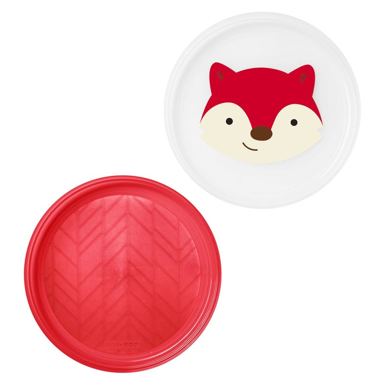 Zoo Little Kid Plate Set of 2 - Fox