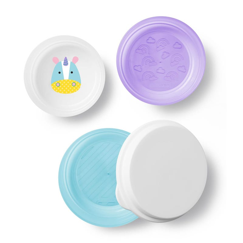 Zoo Little Kid Bowl Set of 3 - Unicorn
