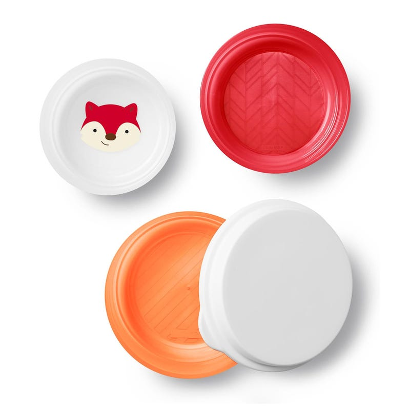 Zoo Little Kid Bowl Set of 3 - Fox