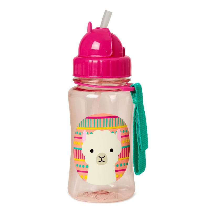 Zoo Straw Bottle - Llama