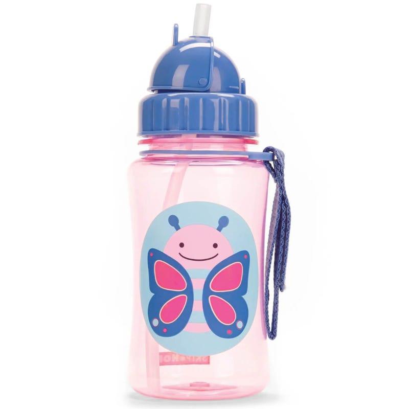 Zoo Straw Bottle - Butterfly 12oz