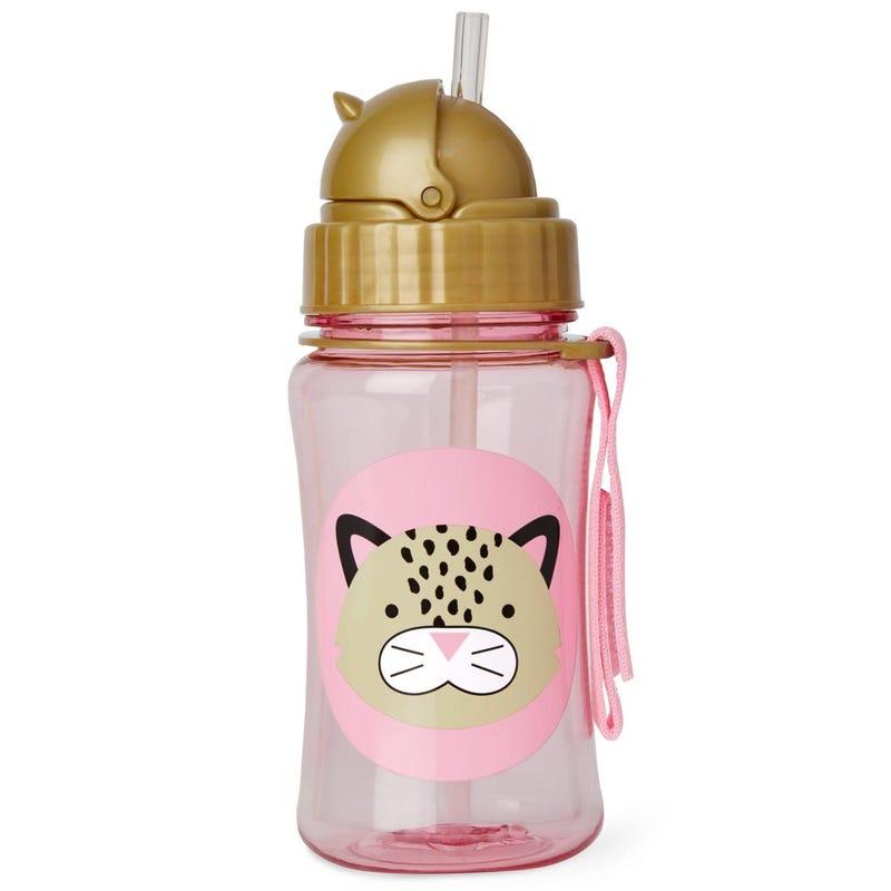 Zoo Straw Bottle - Leopard