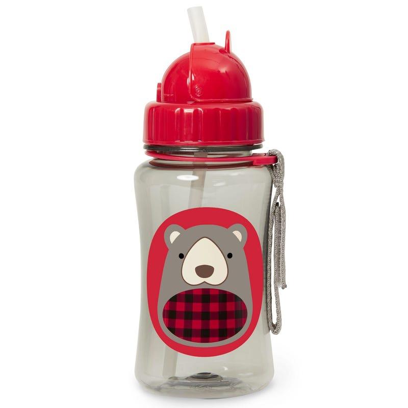 Zoo Straw Bottle - Bear