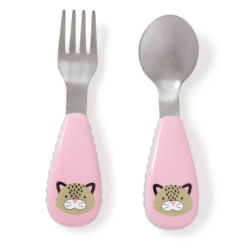 Zoostensils Fork and Spoon - Leopard