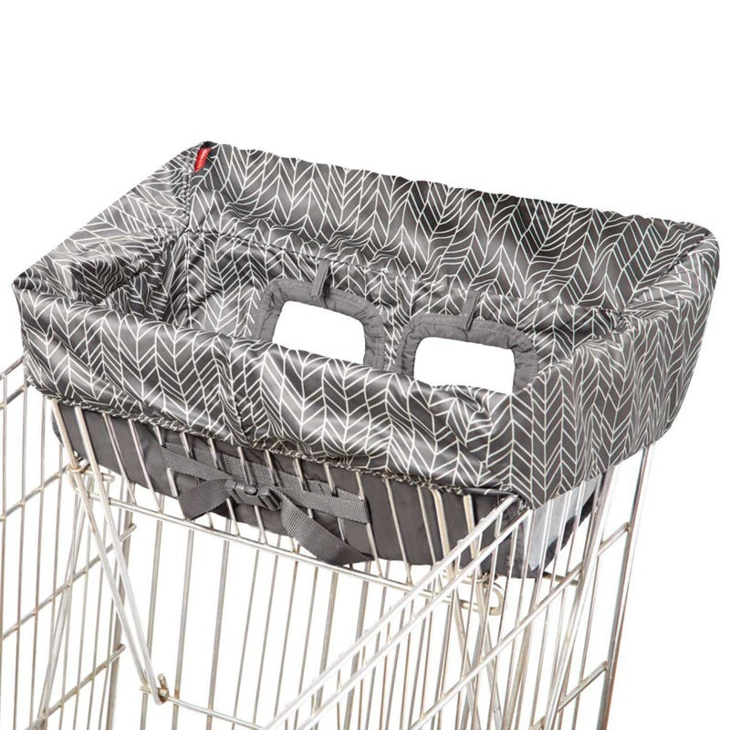 Take Cover Shopping Cart and Baby High Chair Cover - Gray Feather