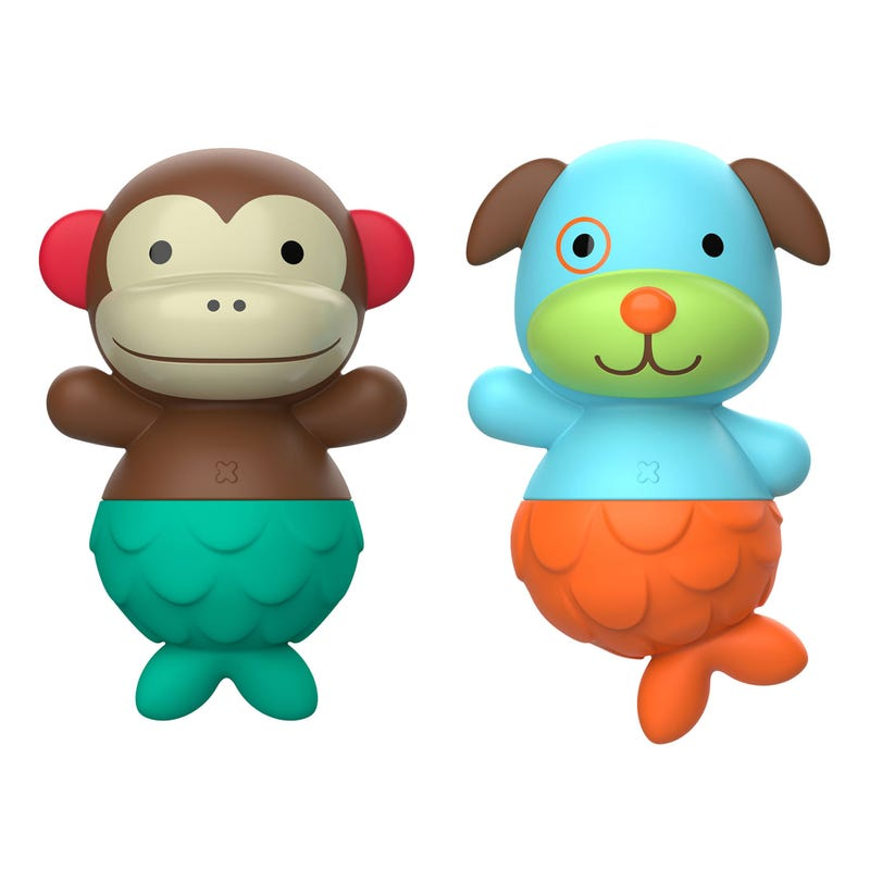Monkey and Dog Toys Bath