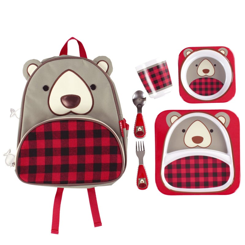 Backpack and Mealtime 5 Pieces Set - Bear