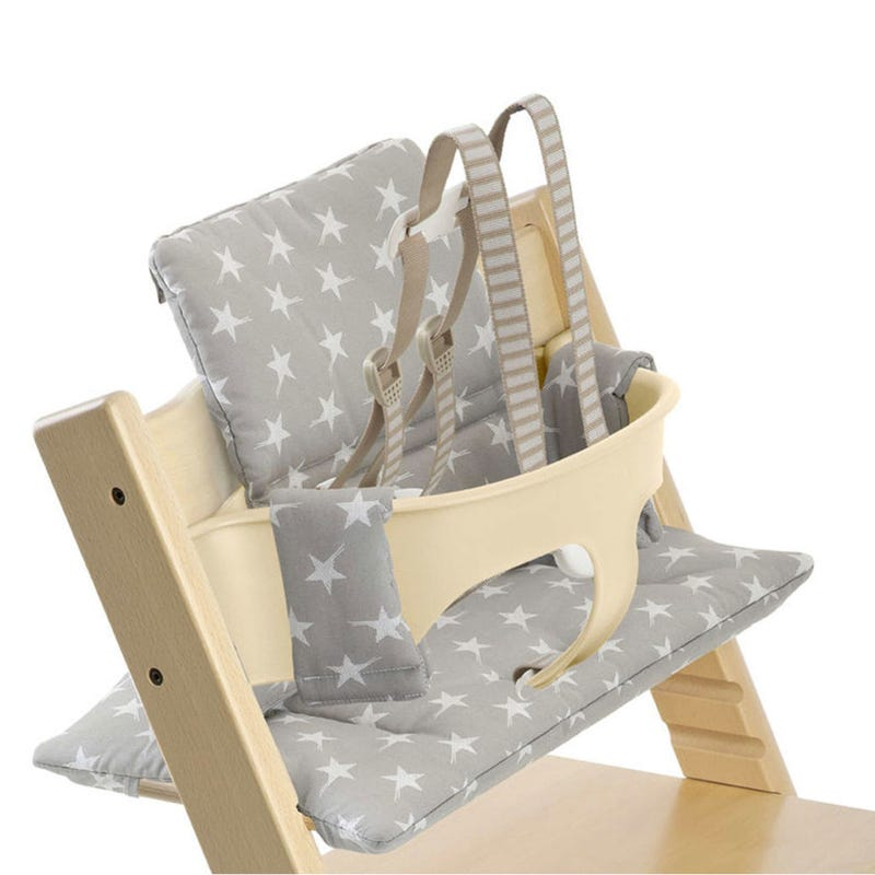 Cushion for Tripp Trapp - Grey Stars