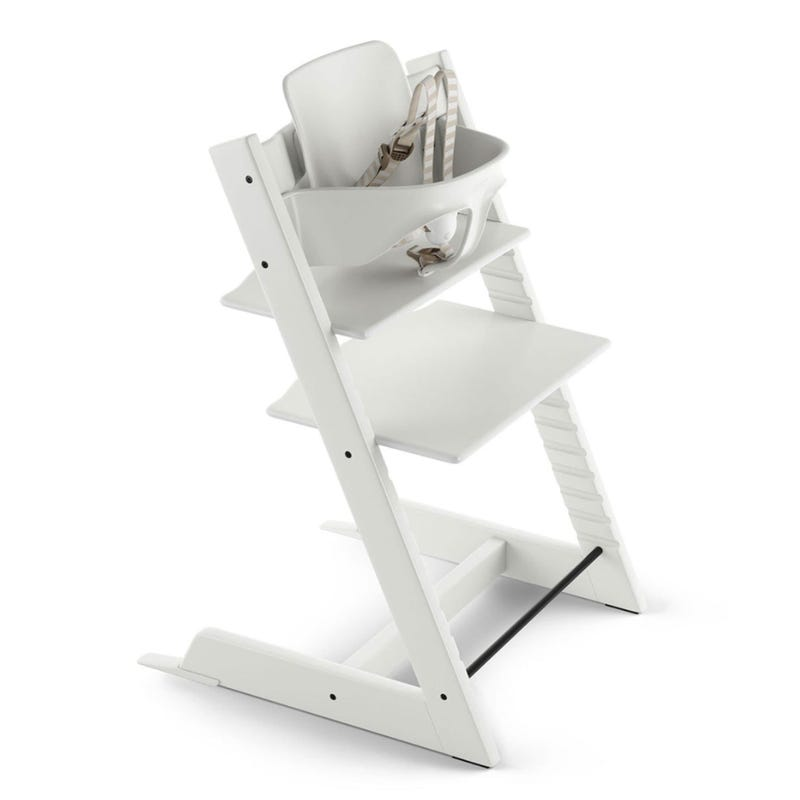 Chaise Haute Tripp Trapp + Baby Set - Blanc