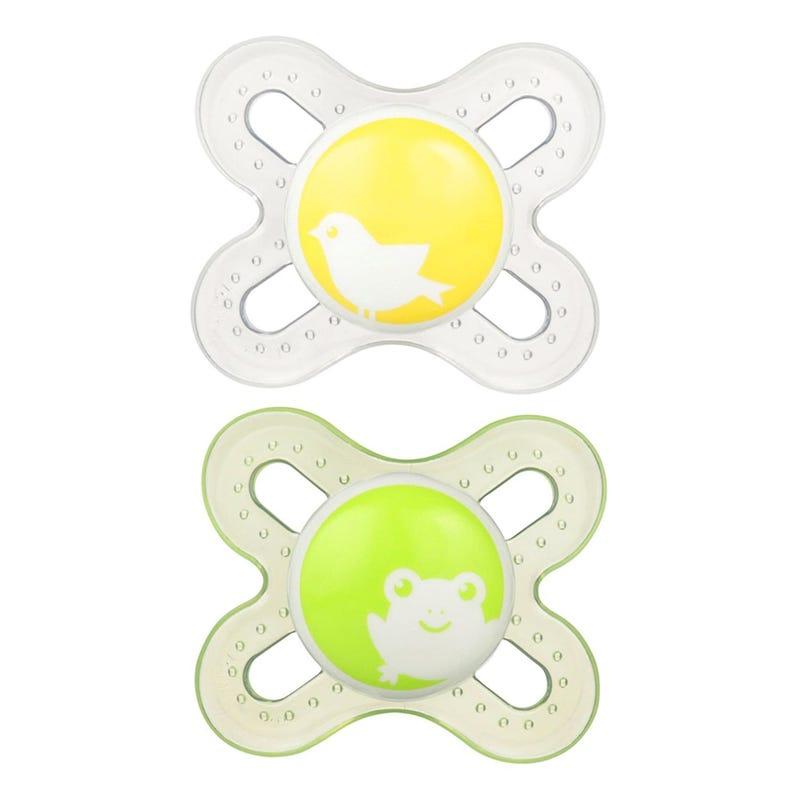 Newborn Pacifiers Set of 2 - Yellow