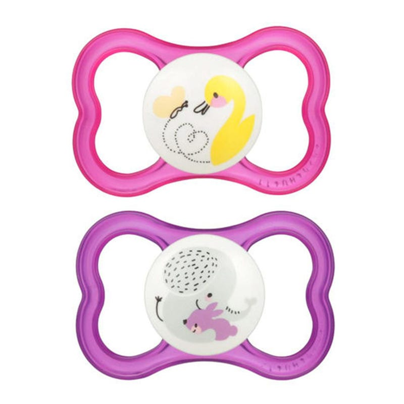 6months+ Pacifiers Set of 2 - Air Pink